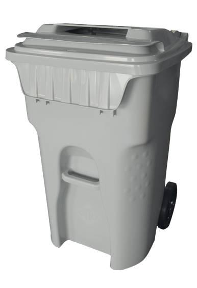 Secure locked paper shredding cart