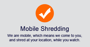 we are a mobile shredding service