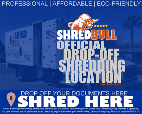 Drop Off Shredding Locations - Irvine, Tustin, Mission Viejo, Laguna Niguel