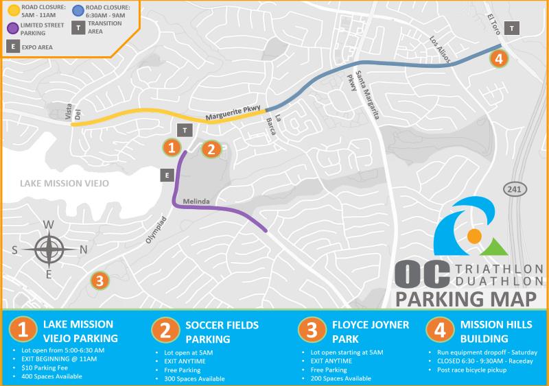 Triathlon parking map